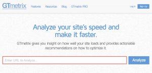 Определение скорости загрузки сайта с помощью GTmetrix